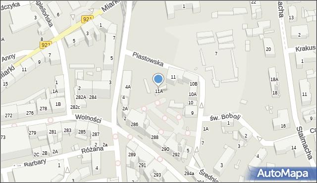 Zabrze, Piastowska, 11A, mapa Zabrza