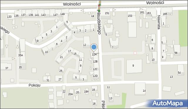 Zabrze, Piłsudskiego Józefa, marsz., 12A, mapa Zabrza