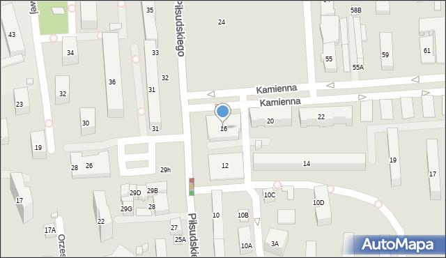 Zamość, Piłsudskiego Józefa, marsz., 16, mapa Zamościa