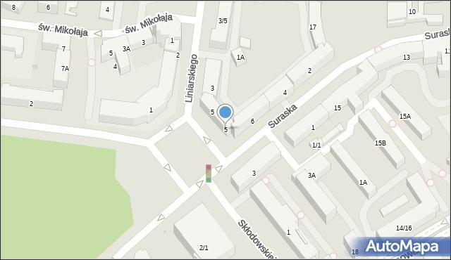 Białystok, Plac Niezależnego Zrzeszenia Studentów, 5, mapa Białegostoku