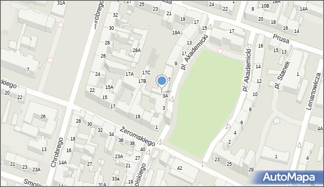 Bytom, Plac Akademicki, 5, mapa Bytomia