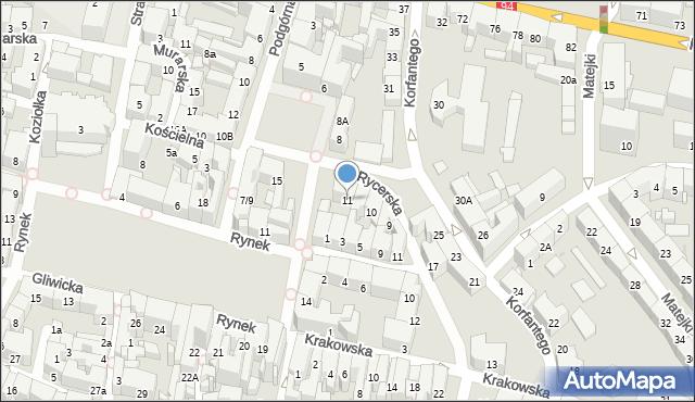 Bytom, Plac Grunwaldzki, 11, mapa Bytomia