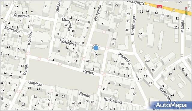 Bytom, Plac Grunwaldzki, 15, mapa Bytomia