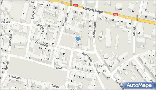 Bytom, Plac Grunwaldzki, 8, mapa Bytomia
