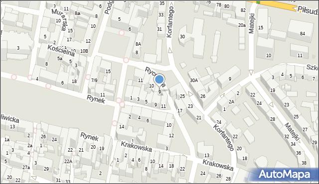 Bytom, Plac Grunwaldzki, 9, mapa Bytomia