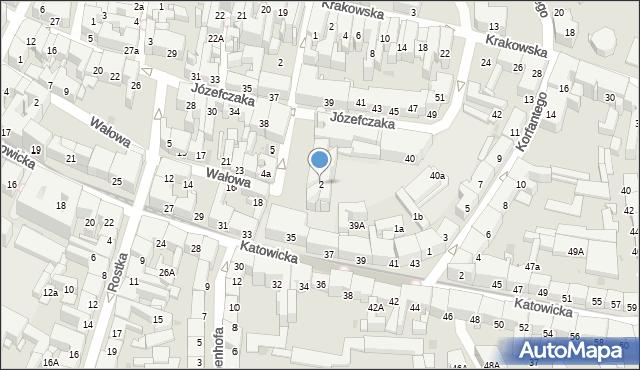 Bytom, Plac Klasztorny, 2, mapa Bytomia