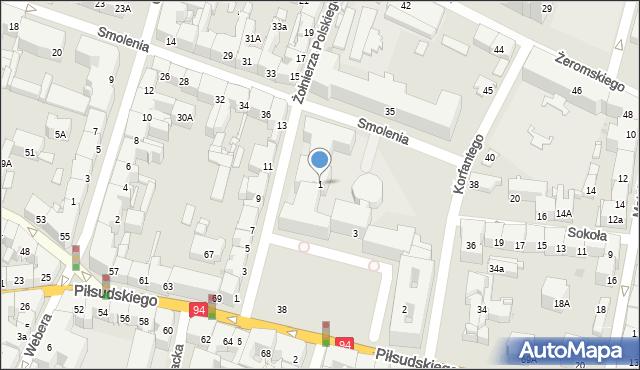 Bytom, Plac Króla Jana III Sobieskiego, 1, mapa Bytomia