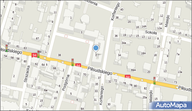 Bytom, Plac Króla Jana III Sobieskiego, 2, mapa Bytomia