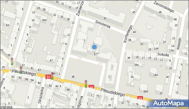 Bytom, Plac Króla Jana III Sobieskiego, 3, mapa Bytomia