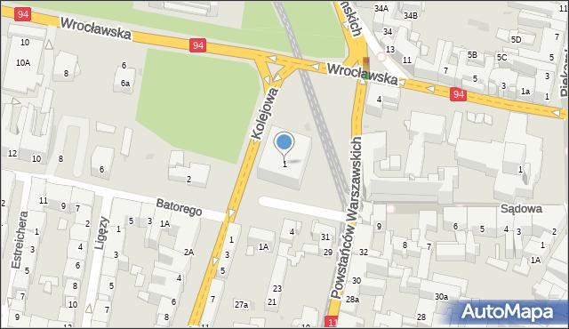 Bytom, Plac Kruczkowskiego Kazimierza, 1, mapa Bytomia