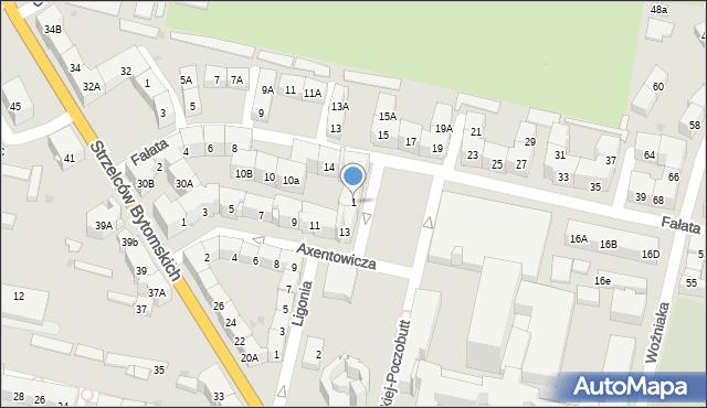 Bytom, Plac Rodła, 1, mapa Bytomia