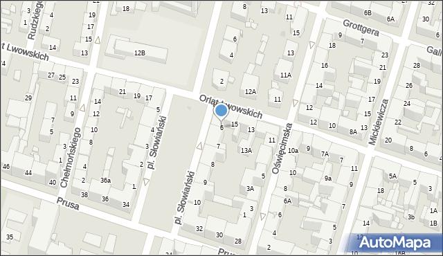 Bytom, Plac Słowiański, 6, mapa Bytomia