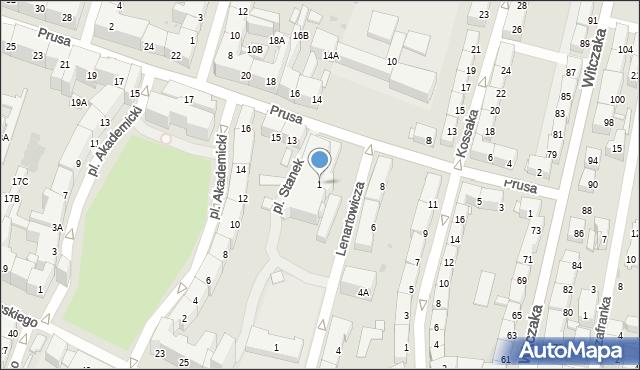 Bytom, Plac Stanek Karin, 1, mapa Bytomia
