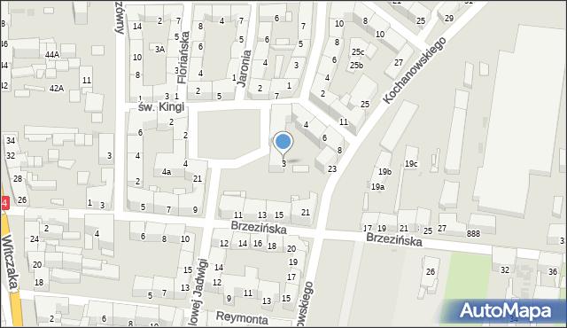 Bytom, Plac św. Barbary, 3, mapa Bytomia