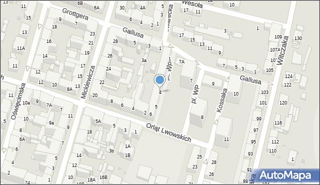 Bytom, Plac Wojska Polskiego, 4, mapa Bytomia