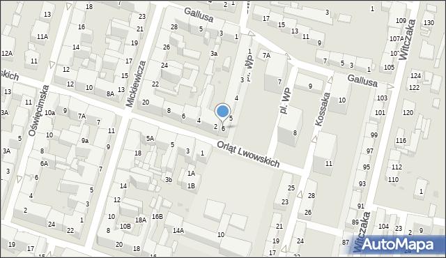 Bytom, Plac Wojska Polskiego, 6, mapa Bytomia