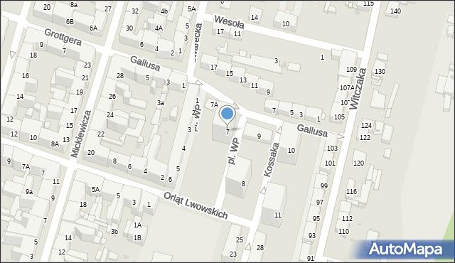 Bytom, Plac Wojska Polskiego, 7, mapa Bytomia