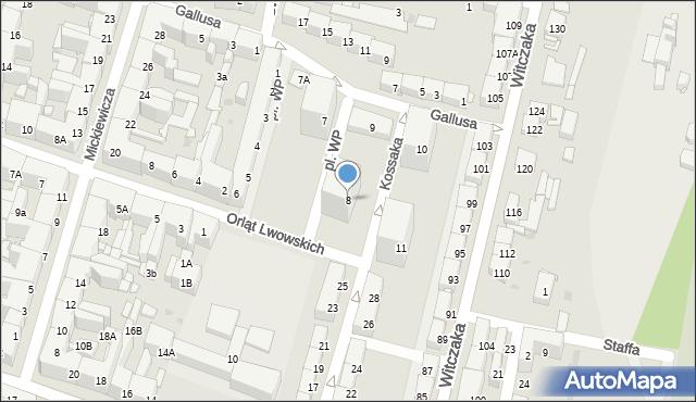 Bytom, Plac Wojska Polskiego, 8, mapa Bytomia
