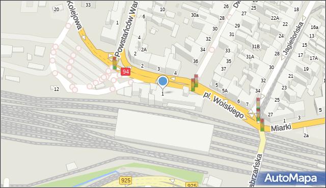 Bytom, Plac Wolskiego Michała, 1, mapa Bytomia