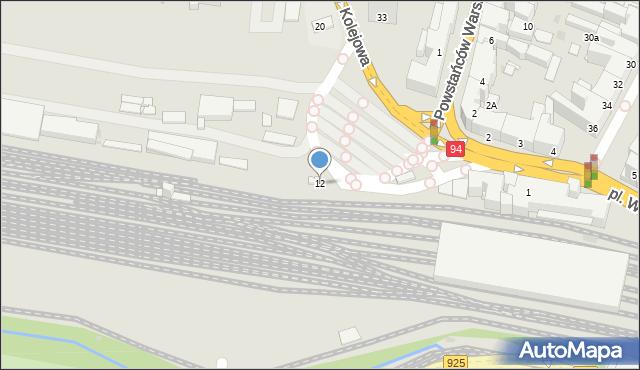 Bytom, Plac Wolskiego Michała, 12, mapa Bytomia