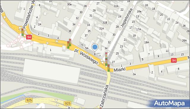 Bytom, Plac Wolskiego Michała, 6, mapa Bytomia