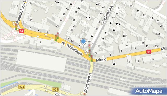 Bytom, Plac Wolskiego Michała, 7, mapa Bytomia