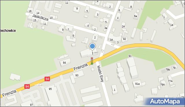 Bytom, Plac Szpitalny, 1, mapa Bytomia