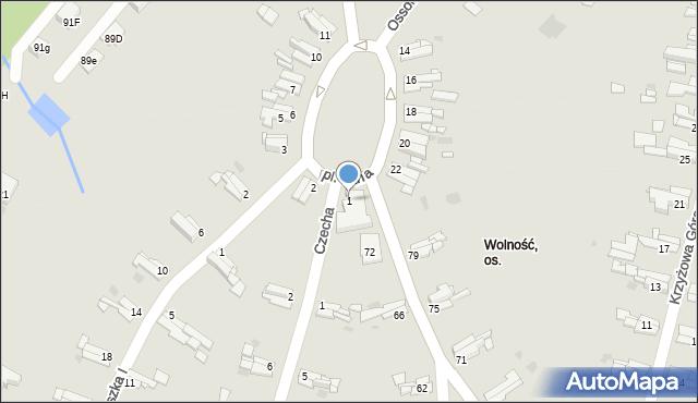 Bytom, Plac Jana, 1, mapa Bytomia