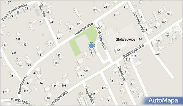 Bytom, Plac Witkiewicza Stanisława Ignacego, 1, mapa Bytomia