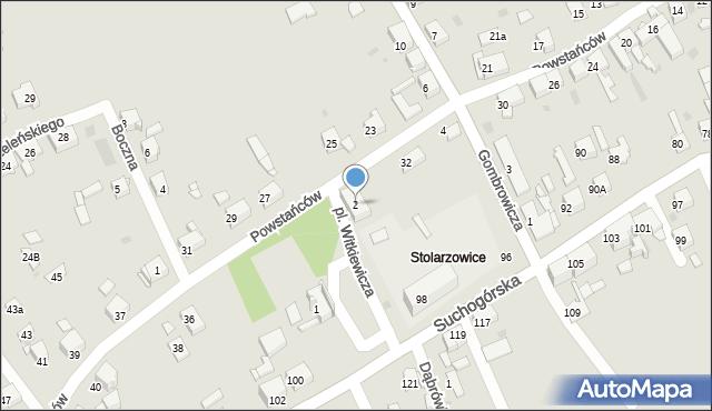Bytom, Plac Witkiewicza Stanisława Ignacego, 2, mapa Bytomia
