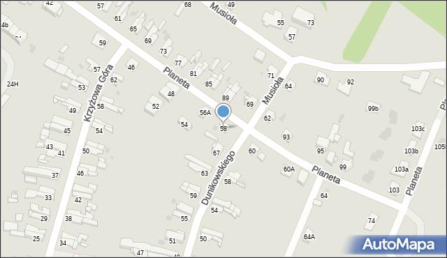 Bytom, Planeta, 58, mapa Bytomia