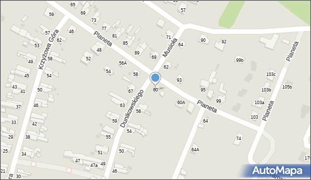 Bytom, Planeta, 60, mapa Bytomia