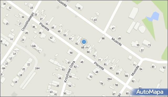 Bytom, Planeta, 67, mapa Bytomia