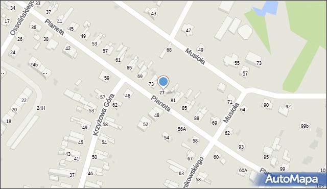 Bytom, Planeta, 79, mapa Bytomia