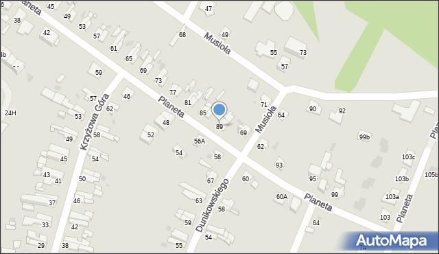 Bytom, Planeta, 89, mapa Bytomia