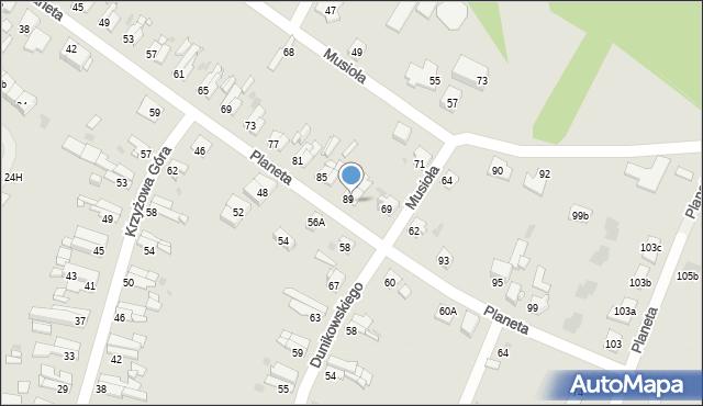 Bytom, Planeta, 91, mapa Bytomia