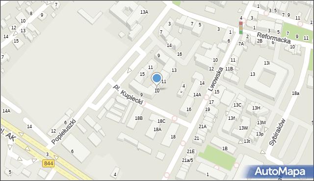 Chełm, Plac Kupiecki, 10, mapa Chełma