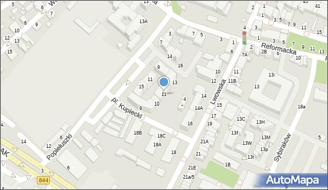 Chełm, Plac Kupiecki, 11, mapa Chełma