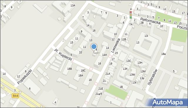 Chełm, Plac Kupiecki, 6, mapa Chełma