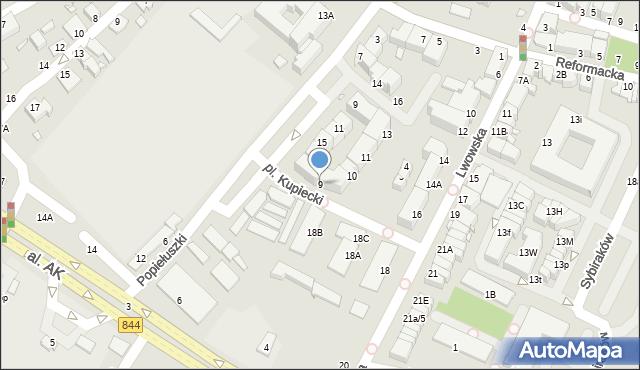Chełm, Plac Kupiecki, 9, mapa Chełma