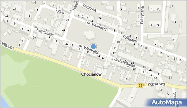 Chocianów, Plac Wolności, 15, mapa Chocianów