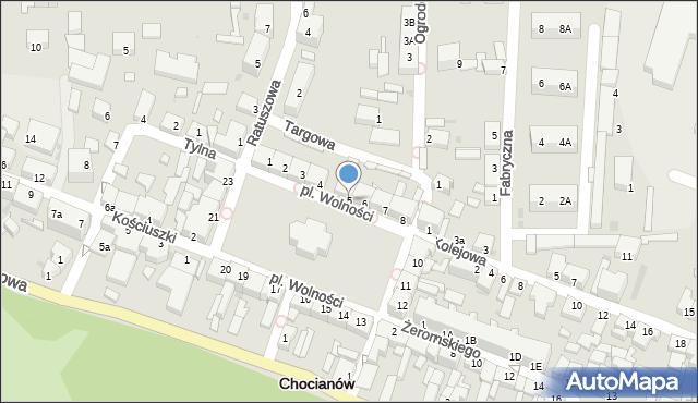 Chocianów, Plac Wolności, 5, mapa Chocianów