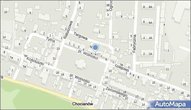 Chocianów, Plac Wolności, 6, mapa Chocianów