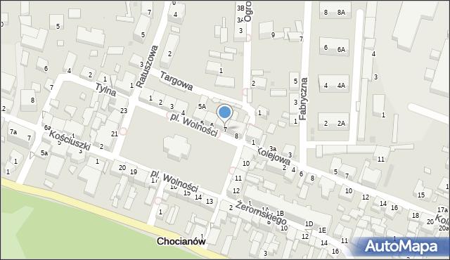 Chocianów, Plac Wolności, 7, mapa Chocianów