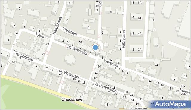 Chocianów, Plac Wolności, 8, mapa Chocianów