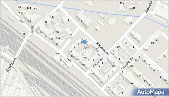 Chorzów, Plac Waryńskiego Ludwika, 4A, mapa Chorzów
