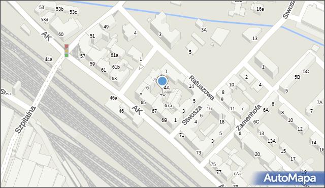 Chorzów, Plac Waryńskiego Ludwika, 4B, mapa Chorzów
