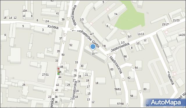Częstochowa, Plac Bohaterów Getta, 13, mapa Częstochowy