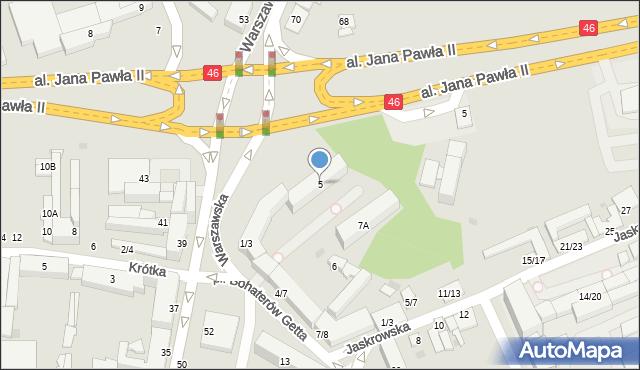 Częstochowa, Plac Bohaterów Getta, 5, mapa Częstochowy