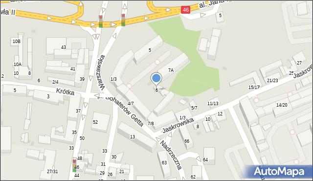 Częstochowa, Plac Bohaterów Getta, 6, mapa Częstochowy